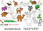 funny africal wild animals to... | Shutterstock .eps vector #762271957