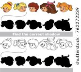 children heads set to find the... | Shutterstock .eps vector #762272239