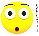 supersize face icon with yellow ... | Shutterstock .eps vector #762275671