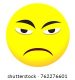 sad face icon with yellow emoji ... | Shutterstock .eps vector #762276601