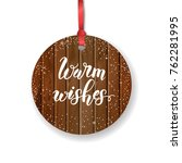 vector christmas vintage label... | Shutterstock .eps vector #762281995