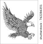 hand drawn eagle vector   Shutterstock .eps vector #762286351