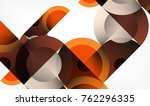 color circle abstract geometric ... | Shutterstock .eps vector #762296335