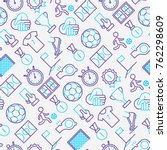 football seamless pattern with... | Shutterstock .eps vector #762298609