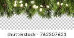 christmas border with fir... | Shutterstock .eps vector #762307621