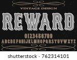 vintage typeface vector... | Shutterstock .eps vector #762314101