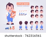 happy little kid character with ... | Shutterstock .eps vector #762316561