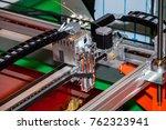 3d printer. the printing... | Shutterstock . vector #762323941