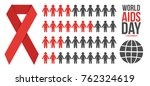 world aids day infographics... | Shutterstock .eps vector #762324619