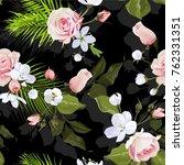 various blossom seamless...   Shutterstock .eps vector #762331351