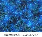 beautiful blue winter pattern ... | Shutterstock . vector #762337927