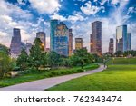 houston  texas  usa downtown... | Shutterstock . vector #762343474