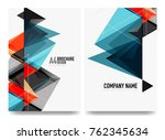 business brochure cover layout  ... | Shutterstock .eps vector #762345634