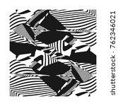 abstract creative geometric...   Shutterstock . vector #762346021