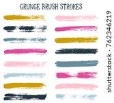 modern watercolor daubs set ... | Shutterstock .eps vector #762346219