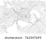 streets of perth  city map ... | Shutterstock .eps vector #762347695
