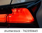 detail on the rear light of a... | Shutterstock . vector #762350665