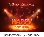 2018 happy new year greeting... | Shutterstock .eps vector #762352027