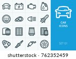 car icons set. collection of... | Shutterstock .eps vector #762352459