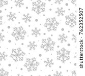 christmas seamless pattern of... | Shutterstock .eps vector #762352507