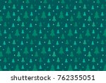endless christmas pattern with...   Shutterstock .eps vector #762355051