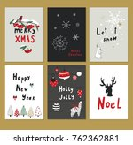 merry christmas cartoon funny... | Shutterstock . vector #762362881