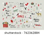 merry christmas cartoon funny... | Shutterstock . vector #762362884