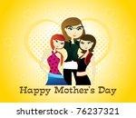 vector illustration for happy... | Shutterstock .eps vector #76237321