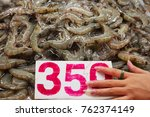 shrimp with shrimp farm in the... | Shutterstock . vector #762374149