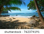 beautiful paridise beach in... | Shutterstock . vector #762374191