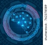 brain is composed circuit... | Shutterstock .eps vector #762378589