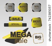 sale and discount offer sticker ... | Shutterstock .eps vector #762385057