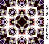 colorful kaleidoscopic pattern... | Shutterstock . vector #762398824
