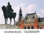 statue of man sitting on the... | Shutterstock . vector #762400699