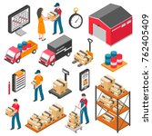 logistics and delivery... | Shutterstock . vector #762405409