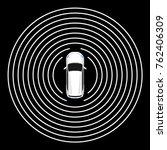 autonomous car top view. self... | Shutterstock .eps vector #762406309