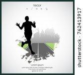 jogger  sport illustration with ... | Shutterstock .eps vector #762413917