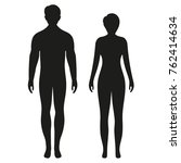 silhouette man and woman on a... | Shutterstock .eps vector #762414634