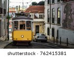 public transport tram in the... | Shutterstock . vector #762415381