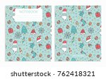 happy new year merry christmas... | Shutterstock .eps vector #762418321