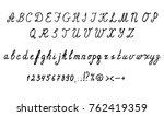 cursive english alphabet... | Shutterstock .eps vector #762419359