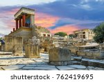 knossos palace at crete  greece ... | Shutterstock . vector #762419695