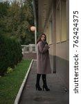 business woman walking on street   Shutterstock . vector #762424375