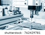 cnc milling machine working ... | Shutterstock . vector #762429781