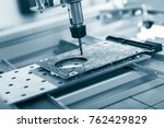 cnc milling machine working ... | Shutterstock . vector #762429829