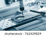 cnc milling machine working ... | Shutterstock . vector #762429829