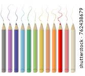 pencil colors vector