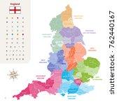 england ceremonial counties... | Shutterstock .eps vector #762440167