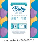 baby shower invitation card | Shutterstock .eps vector #762455815