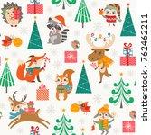 christmas seamless pattern for... | Shutterstock .eps vector #762462211